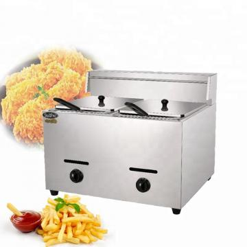Commercial Facotry High Quality Stainless Steel One Tank Gas Deep Fryer with Valve for Restuarant