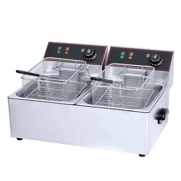 Stainless Steel Commercial Electric Chicken Donut Fish Fryer Potato Chips Deep Fryer with Cabinet